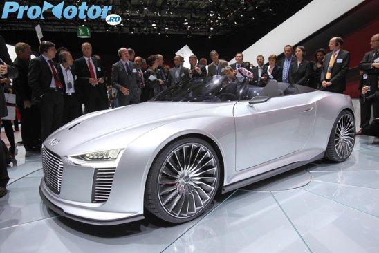 Audi e-Tron Spyder a putea prefigura un model decapotabil sportiv