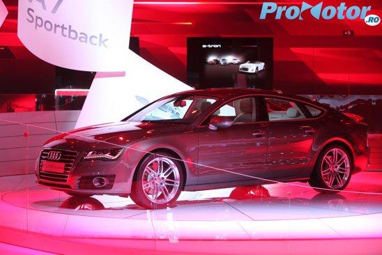 Noul Audi A7 este un fel de hatchback-coupe-cu-4-usi, fiind foarte masiv, dar si elegant