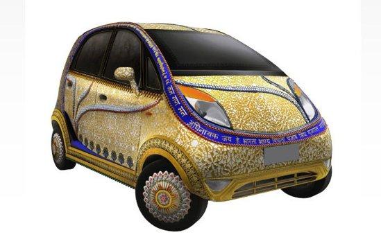 Tata Nano Gold Plus va fi ornata cu elemente din aur, ca aniversare a 5.000 de ani de fabricare a bijuteriilor