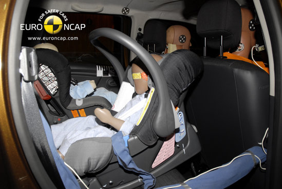 Dacia Duster asigura o buna protectie pasagerilor si copiilor din masina