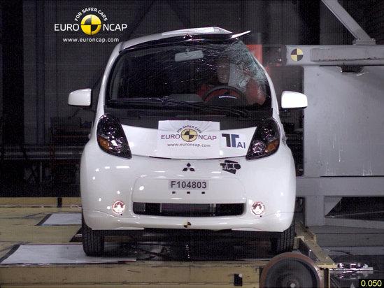 Mitsubishi i-MiEV este prima masina electrica la crashtestele Euro NCAP. Rezultat: 4 stele din 5