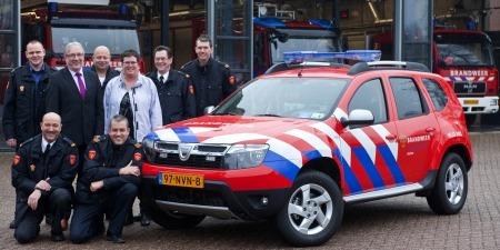 Dacia Duster - masina de pompieri in Olanda