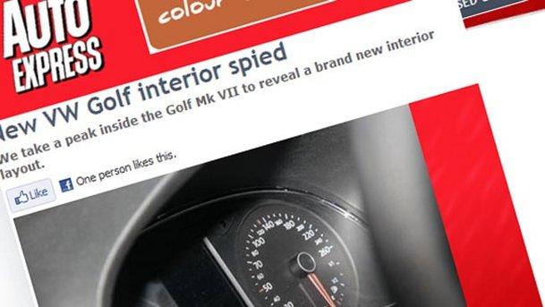 Primele poze spion cu interiorul lui Volkswagen Golf 7