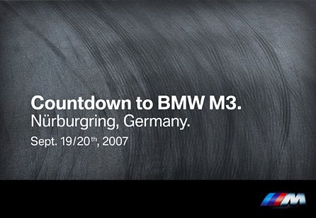 Countdown to BMW M3