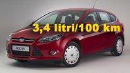 Versiune ecologică Ford Focus ECOnetic: 3,4 litri/100 km şi 89 g/km CO2