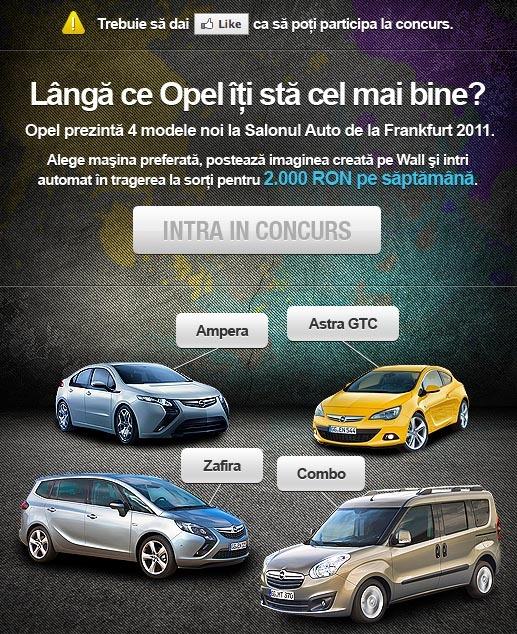Concurs Opel pe Facebook