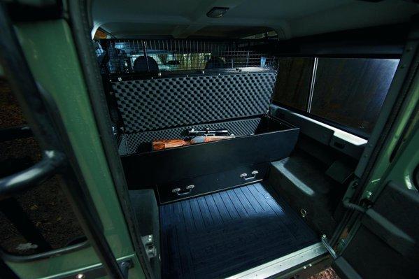 Punctul de atractie al lui Defender Blaser Edition - cutia pentru cinci pusti de vanatoare