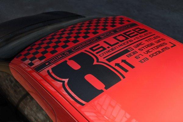 Acoperisul lui DS3 Racing S. Loeb aminteste de cele 8 titluri din WRC