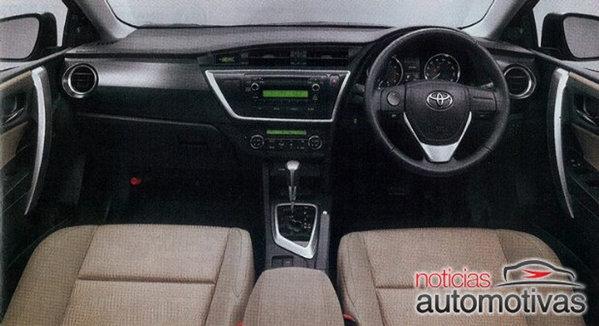 Designul plansei de bord al noii Toyota Auris este asimetric si denota o mare calitate