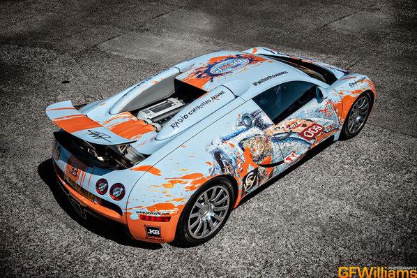 BugARTi - asa arata un Bugatti Veyron Art Car realizat de artistul Ian Cook