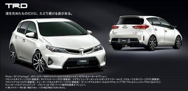 În Japonia este oferita si o gama de accesorii sportive Modellista pentru Toyota Auris