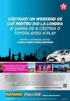 Lansarea uleiului de motor Havoline ProDS iţi aduce şanse de a câstiga o excursie VIP la Londra, şi o Toyota Aygo