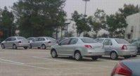 Spatele lui Peugeot 207 Sedan
