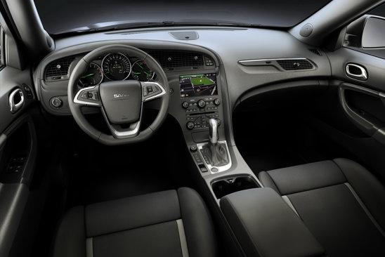 Interiorul lui Saab 9-4X este realizat de aceeasi maniera ca la celelalte modele Saab