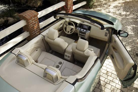 Nissan Murano CrossCabriolet are interiorul similar cu al versiunii cu acoperis metalic