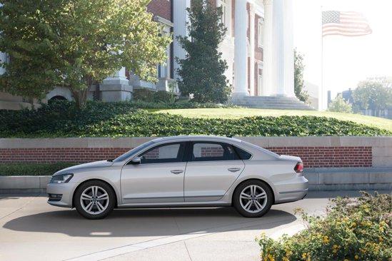 Volkswagen Passat pentru USA are ampatamentul si lungimea mai mari cu 10 cm decat Passat-ul european