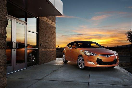 Noul Hyundai Veloster este un hot hatch coupr cu trei usi si hayon