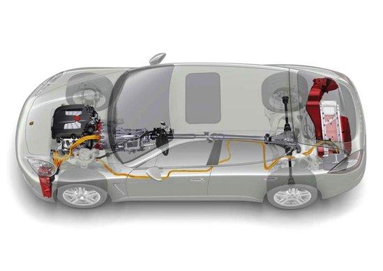 Posche Panamera Hybrid are un motor V6 de 333 CP si unul electric de 46 CP