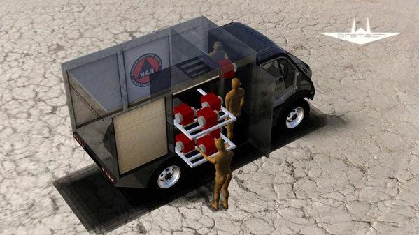 In teorie, Bremach T Rex EV are o autonomie maxima de peste 300 km, gratie bateriilor litiu ion