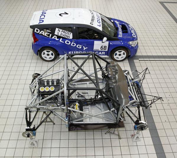Modelul de curse Dacia Losgy Glace utilizeaza aceeasi tehnica precum Duster Ice