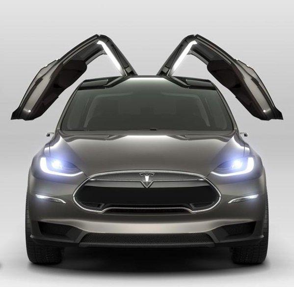 Tesla Model X adopta solutia Falcon Wings pentru usile din spate