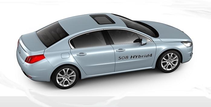 Peugeot 508 Hybrid4 este singurul sedan de clasa medie hibrid-diesel