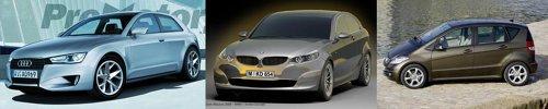 Audi A3 ajunge la a 3-a generatie, BMW Seria 1 la a doua, iar Mercedes Clasa A poate va fi inlocuit cu BLK