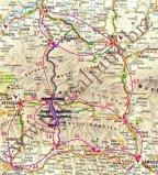 O hartă detaliată a Transalpinei, pentru cei interesaţi - mulţumită fanilor de pe www.transalpina.biz