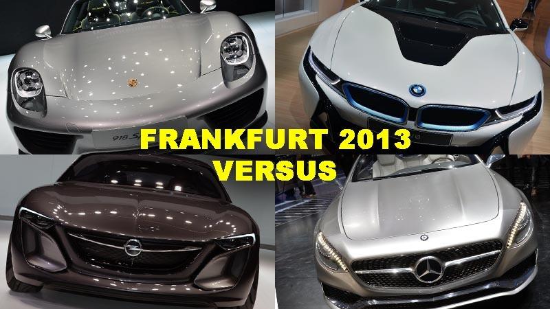 Topul duelurilor de la Salonul Auto Frankfurt 2013