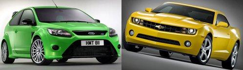 Ford Focus RS vs. Chevrolet Camaro: remember old boys
