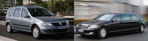 Dacia Logan MCV facelift vs. Mercedes S600 Pullman
