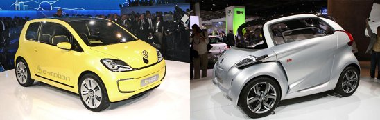 Deci Volkswagen E-Up vs. Peugeot BB1