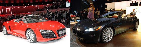 Audi R8 Spyder vs. Maserati GranCabrio