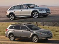 A4 Allroad si Outback, in clasa medie