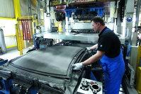 Plafon de carbon folosit pe modelul BMW M3