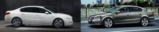 Peugeot 508 vs. Volkswagen Passat facelift