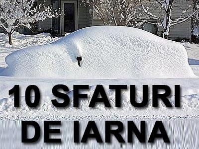 10 sfaturi pentru conducerea maşinii pe zăpadă