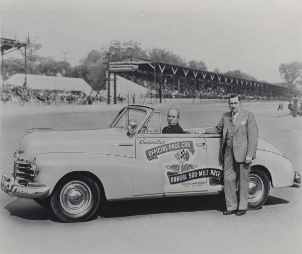 Prima masina Chevrolet pace-car la Indy 500 a fost un Fleetmaster Convertible, in 1948