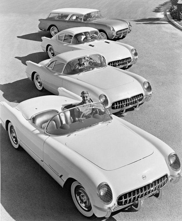 In 1954 au fost prezentate 3 concepte bazate pe Corvette
