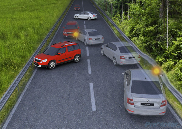 Skoda Octavia 3 collision prevention