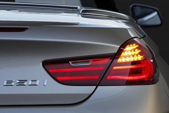 Stopurile alungite excesiv pe lateralele lui BMW Seria 6 Convertible arata fabulos