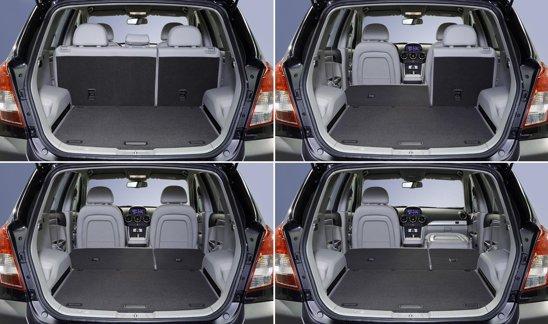 Portbagajul lui Opel Antara facelift variaza intre 420 si 1.420 de litri