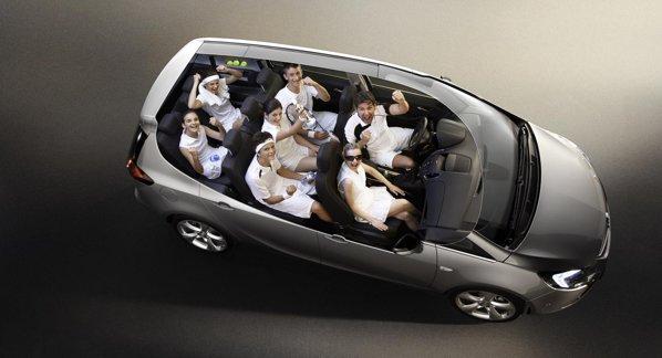 Noul Opel Zafira Tourer ofera scaune mai spatioase pe al treilea rand