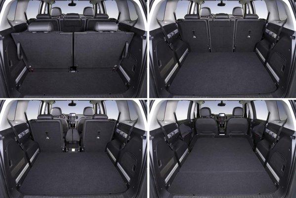 Portbagajul lui Opel Zafira Tourer variaza intre 150 si 1.800 de litri
