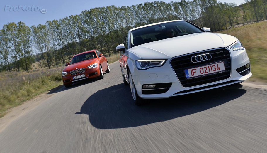 Orgoliada: comparativ Audi A3 vs BMW Seria 1, test cu motoare diesel