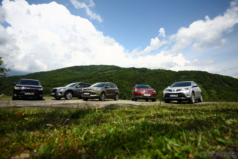 Test COMPARATIV - Mazda CX-5 vs Ford Kuga vs Honda CR-V vs Toyota RAV 4 vs Mitsubishi Outlander