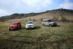 COMPARATIV. La noroi. Pathfinder vs G Klasse vs Wrangler, pe dealurile Buzăului
