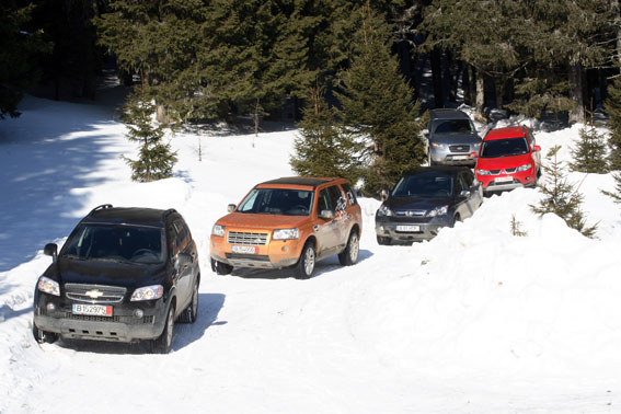 Outlander vs. Freelander2 vs. Captiva vs. CR-V vs. Santa Fe