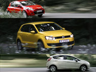 VW Polo vs Renault Clio vs Ford Fiesta - Dinamica (III)