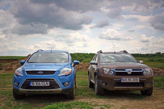 Diferenta intre Ford Kuga si Dacia Duster (modelele de test) se cifreaza la circa 7.000 euro